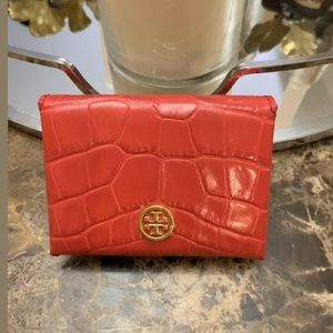 Tory Burch Parker Embossed KIR Royale Card case